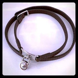 MICHAEL KORS brown leather bracelet NWOT